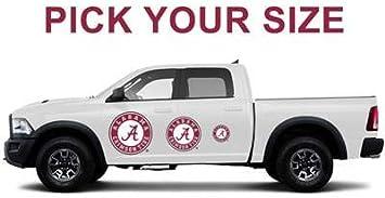 GameDay Graphics University of Alabama Vehicle Sticker Decals College Sports Teams 25 x 30, Alabama Big Al Cars Tailgating Trucks Premium Reusable Athletic Stickers