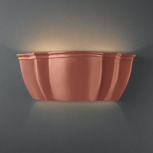 (Justice Design Group Ambiance Collection 2-Light Wall Sconce - Terra Cotta Finish)