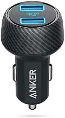 Anker Car Charger, 30W Dual USB Car Adapter PowerDrive Speed 2 PowerIQ 2.0 iPhone Xs/Xs Max/XR/X/8/7/6s Plus, iPad Pro/Air 2/Mini, Galaxy S9/S8/S7/S6 Edge, LG, Nexus, HTC More