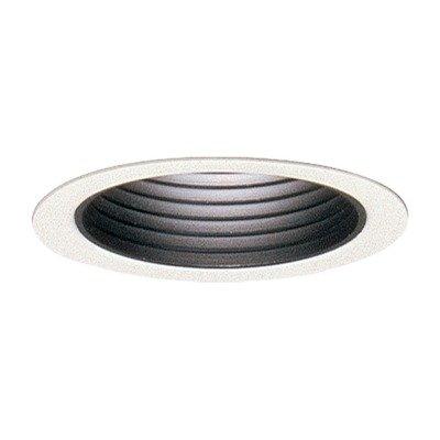 Lytecaster Adjustable Step Baffle Reflector Trim Finish / Flange: Matte White / No Lightolier Lytecaster Incandescent Reflector Trims