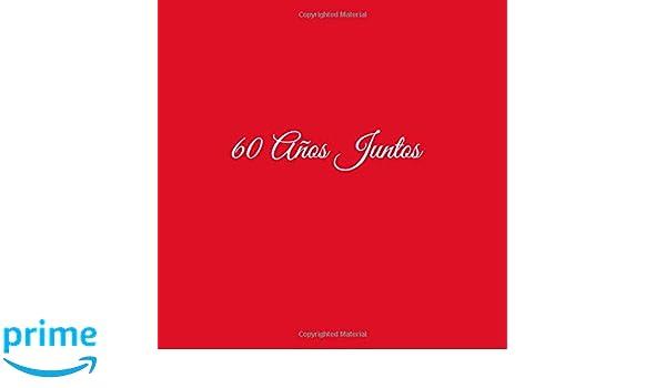 Libro De Visitas 60 años juntos para Aniversário de Bodas decoracion accesorios ideas regalos eventos firmas fiesta hogar invitados .