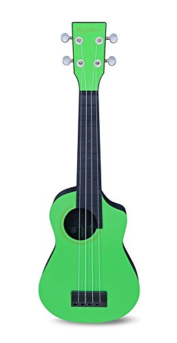 BugsGear Ukulele GR/BK Glow Stick Adventure Travel Ukulele, Green/Black