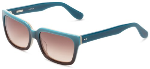 Derek Lam Easton Square Sunglasses, Turquoise, 51 mm by Derek Lam