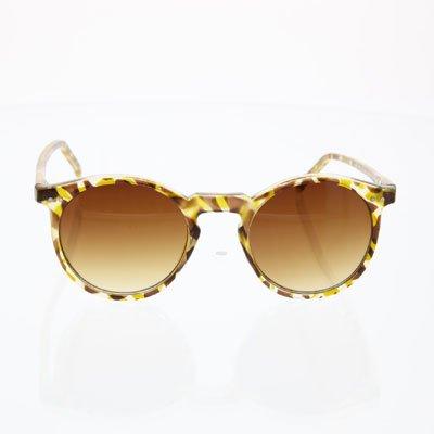 Gangnam Psy Style Round Costume Sunglasses Brown Tortoise