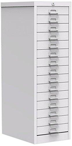 Simply Office MULT15DLGR 15 Drawer Locking Multi-Drawer - Light Grey