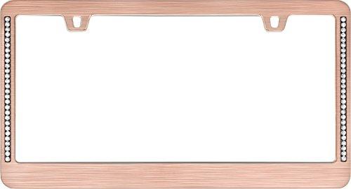 Designer License Plate - Cruiser Accessories 15000 Neo Diamondesque License Plate Frame, Rose Gold