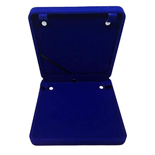 TIKIYOGI Jewelry Set Velvet Box Necklace Earring Ring Necklace Bracelet Gift Display Case Wedding Jewelry Storage Holder (Royal Blue for Long Pearl Chain)