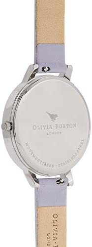 Olivia Burton Big Dial White Dial Violet Leather Ladies Watch OB16BDW37
