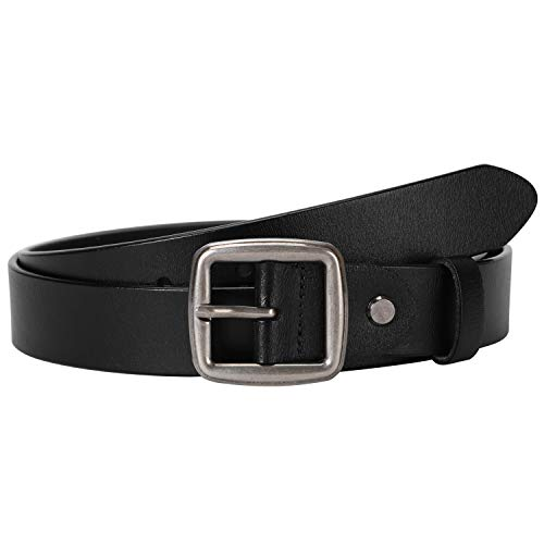 (Black Women Leather Belt for Jeans Dress,Western Designer Belts for Women for Casual and Formal Wear By)