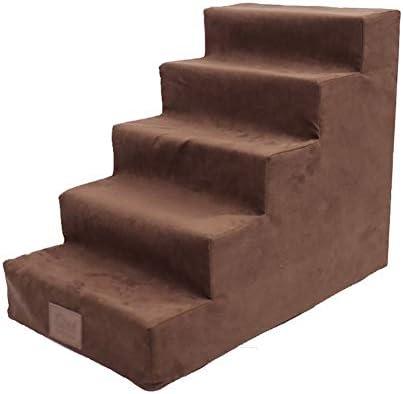 ZPWSNH Mascotas 5 Pasos para Perros Escalera para Mascotas Descanso para Mascotas tobogán para niños Escalera para IR a la Cama Escaleras de Mascotas (Color : Brown): Amazon.es: Hogar