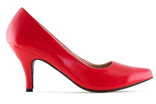 Machado Damenschuhe Rot Rojo AM5286 Pumps Andres in Soft Übergrößen große 6xzdwqnS