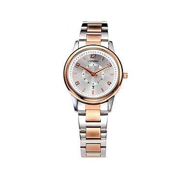Men's Watches Women Quartz Watch Sliver Ladies Steel Fashion Business Wrist Watches Argent Female Rose Gold Wristwatches Cool Watches Womens Watches (Color : Rose Gold, Size : for Lady-One Size) ()