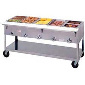 Duke Manufacturing Hot Food Table - Duke EP305SW Aerohot Electric Hot Food Table - Portable 5 Wells, 72-3/8