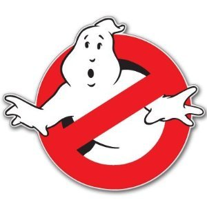 Ghostbusters Ghost busters HUGE bumper sticker 10
