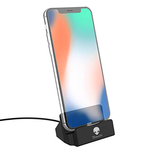 Stouchi Phone Charge Dock Station Compatible iPhone X/8/8 Plus/7/7Plus/6/6 Plus/6s/6s Plus/5/SE,iPad Mini, iPod Touch (Black)