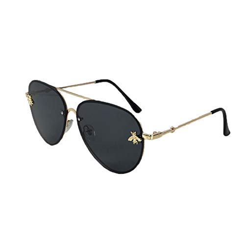 Fashion Culture Women's Beehave Bee Charm Aviator Sunglasses, ()