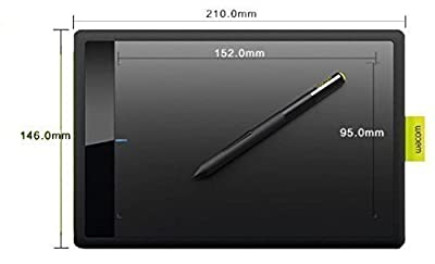 Wacom Bamboo One CTL471 Drawing Pen Small Tablet for Windows and Mac including Black Standard Nibs from Wacom
