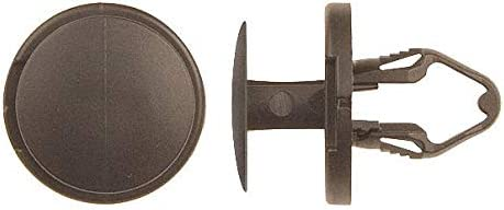 8.5mm Dia Nylon 14mm L Black 8.5mm Keyhole Push In Rivet pack of 5