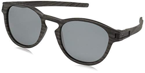 Oakley Men's Latch Polarized Iridium Oval Sunglasses, WOODGRAIN, 53 mm ()