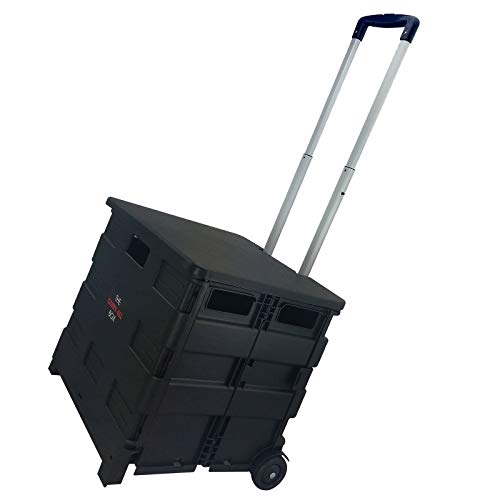 - Elama Home Heavy Duty Utility Carry All Easy Folding Cart with Lid