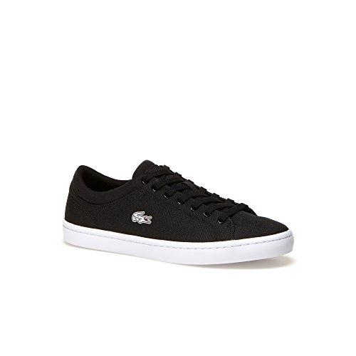 Lacoste Straightset Women US 8.5 Black Sneakers