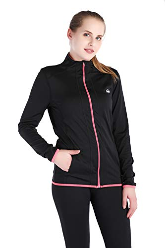 Dolcevida Women's Full Zip Long Sleeves Running Activewear Yoga Track Jackets