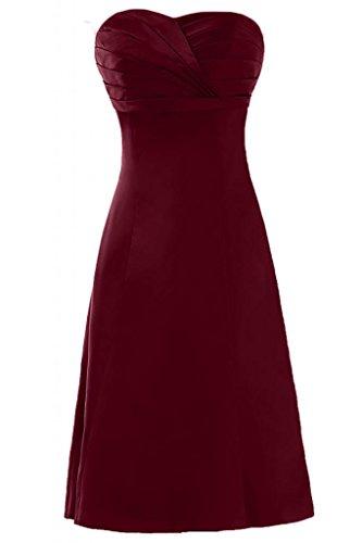 Pantaloncini Sweetheart Sunvary per senza Borgogna Bridesmaid in abiti Homecoming Charming raso Gowns aq44S17
