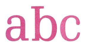 Shimmer Jigsaw Alphabet 45/pkg-pink Chipboard