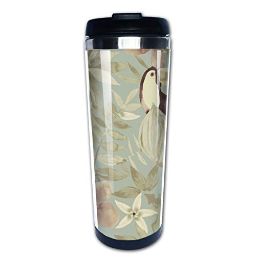 Markui Travel Coffee Mug Bird Flower Stainless Steel Insulated Coffee Cup Sport Water Bottle 13.5 Oz -