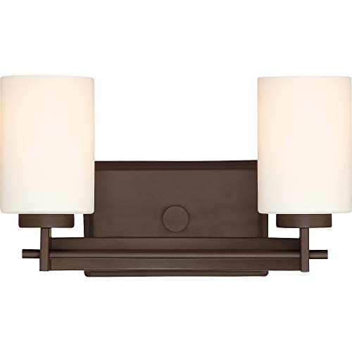 Quoizel TY8602WT Taylor Bath Vanity Wall Lighting, Lights 2-Light, 200 Watts, Western Bronze (8
