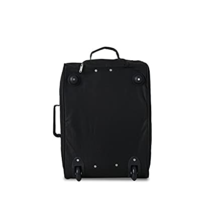 5 Cities The Valencia Collection Hand Luggage Lightweight Travel Holdall 55 cm 42 Litres Black - hand-luggage, luggage