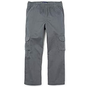 The Children's Place Slim Boys Pull-On Cargo Pant, Gray Steel, 4S
