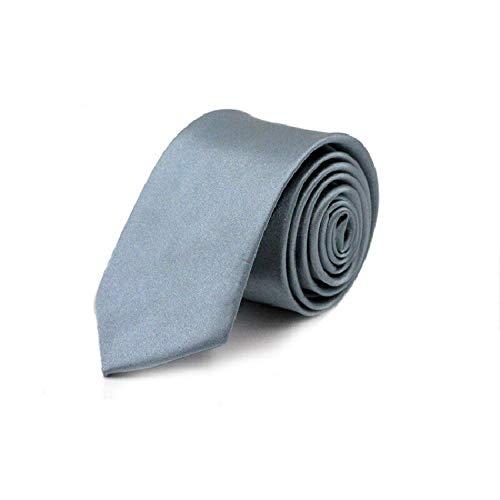 Tie 2019 Tie for Men Slim Tie Solid color Necktie Polyester Narrow Cravat 5cm width 36 colors Royal Blue Yellow Gold