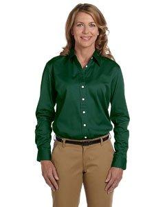 Chestnut Hill Women's 32 Singles Long Sleeve Twill Button Down Dress Shirt CH500W green Medium