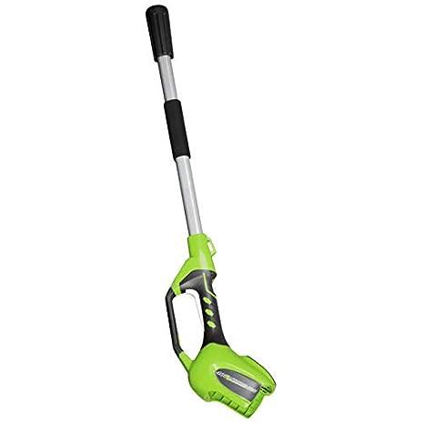 Greenworks Podadora y cortasetos telescópico inalámbrico de 40V Li ...