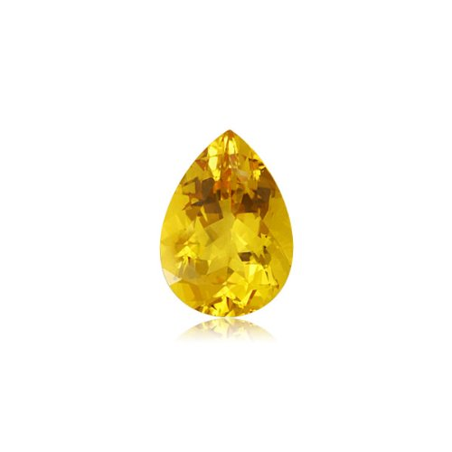 Mysticdrop 0.55-0.70 Cts of 7X5 mm AA Pear Yellow Beryl (1 pc) Loose Gemstone by Mysticdrop (Image #3)