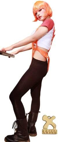 Xcoser The 5th Fifth Element Leeloo Suspender Flexiable size in Orange Christmas Party Props 2014