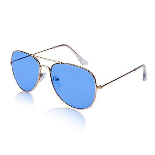 Military Round Man's Cool Fun 60s Hipster Hippie Cute Eye Sun Glasses Cheap Blue