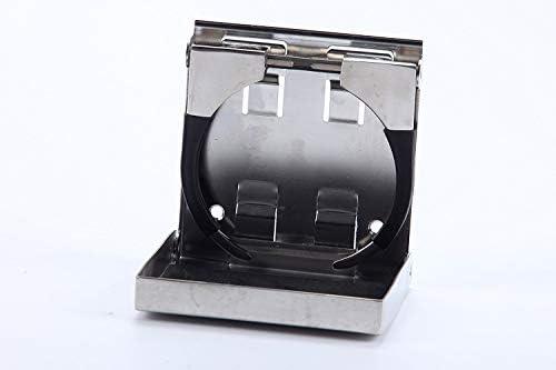 Portabevande Pieghevole in Acciaio Inox 55 mm-85 mm di Diametro per Uso Marittimo//Barca//roulotte//Auto FreeTec