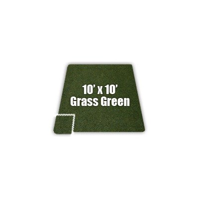 SoftCarpets Set in Grass Green [Set of 8] Size: 12′ x 16′