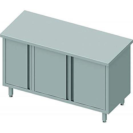 Stalgast - Mueble bajo de cocina de acero inoxidable para ...