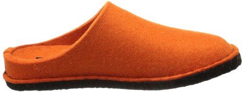Haflinger Flair-Soft - Pantuflas de lana unisex naranja - Orange (rost 43)