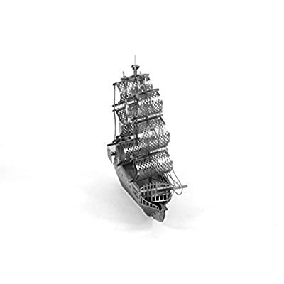 Metal Earth Fascinations Black Pearl Pirate Ship 3D Metal Model Kit: FASCINATIONS: Toys & Games