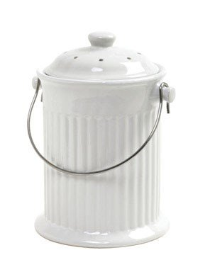 Norpro 93 1 Gallon Ceramic Compost Keeper, White ()