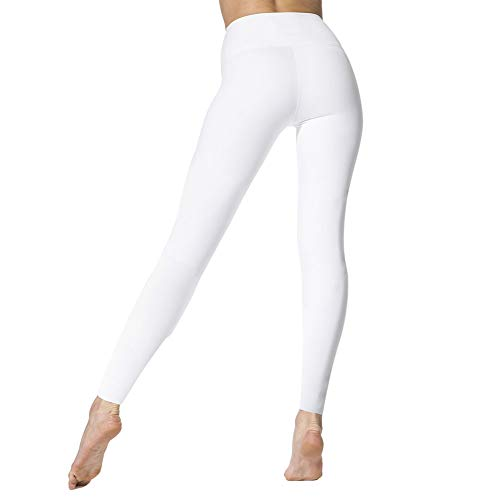(High Waisted Leggings for Women - Soft Athletic Tummy Control Pants for Running Cycling Yoga Workout - Reg & Plus Size)