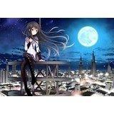 cityscapes-night-moon-pantyhose-mahou-shoujo-madoka-magica-anime-akemi-homura-pu-mouse-pad-mousepad-
