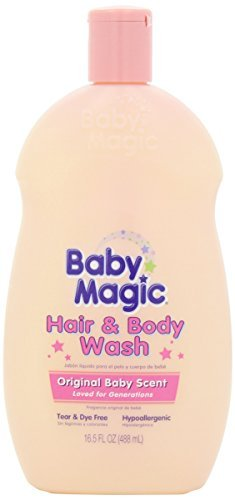 Baby Magic Hair and Body Wash, Original Baby Scent, 16.5 Ounces (Pack of ()
