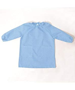 10XDIEZ Bata Escolar Unisex Celeste - Medida Bata Infantil - 4 años (98-104 cm de Altura): Amazon.es: Hogar