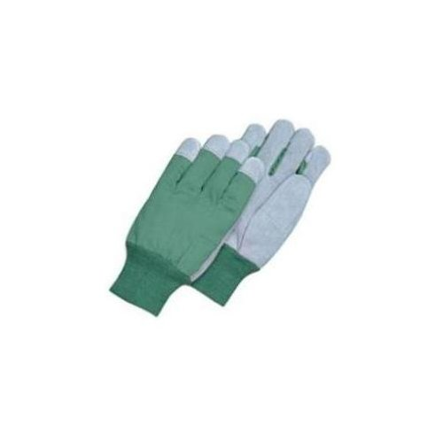 Magid TK8CT Leather Palm Glove with Knit Wrist Clute Pattern, Pearl Grey Palm Clute Pattern