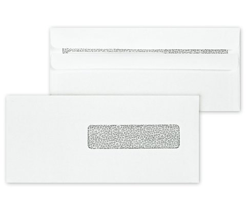 Claim Form Window Envelopes - 500 Claim Forms Envelopes, for Medical Billing Insurance Claim HCFA-1508, CMS-1500 Forms, Security Inside Tinted, Self-Seal Closure~Right Window Envelope~ 9 1/2